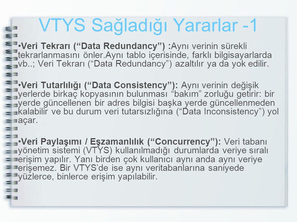 VTYS Sağladığı Yararlar -1