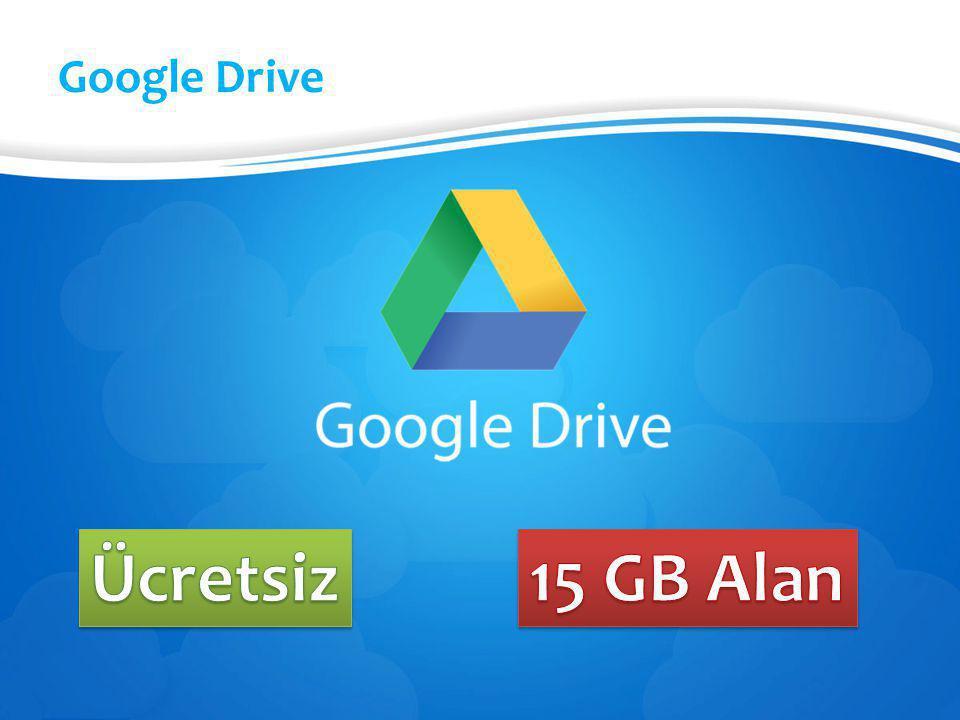 Google Drive Ücretsiz 15 GB Alan