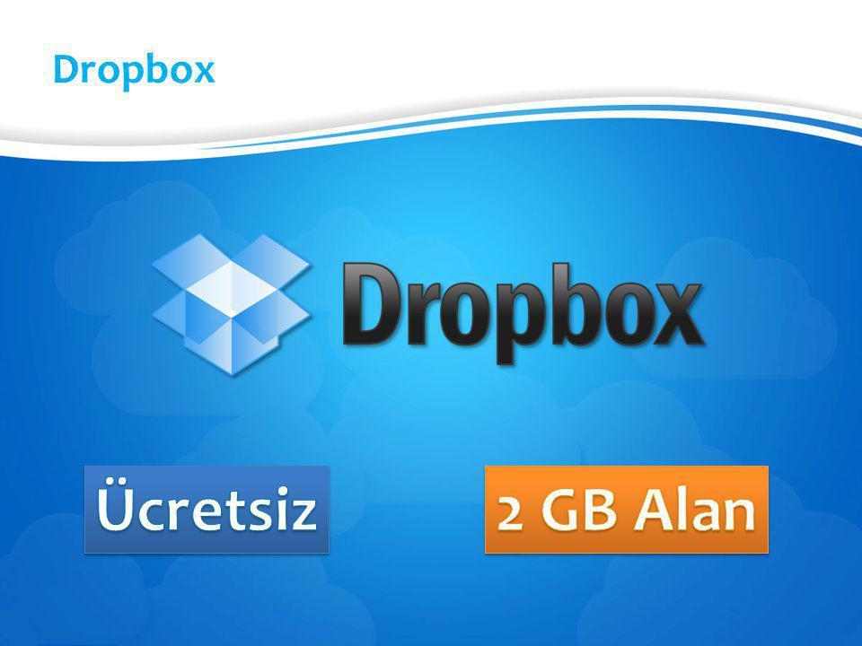 Dropbox Ücretsiz 2 GB Alan