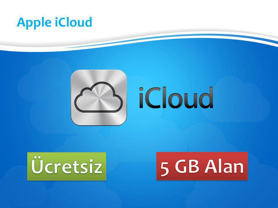 Apple iCloud Ücretsiz 5 GB Alan