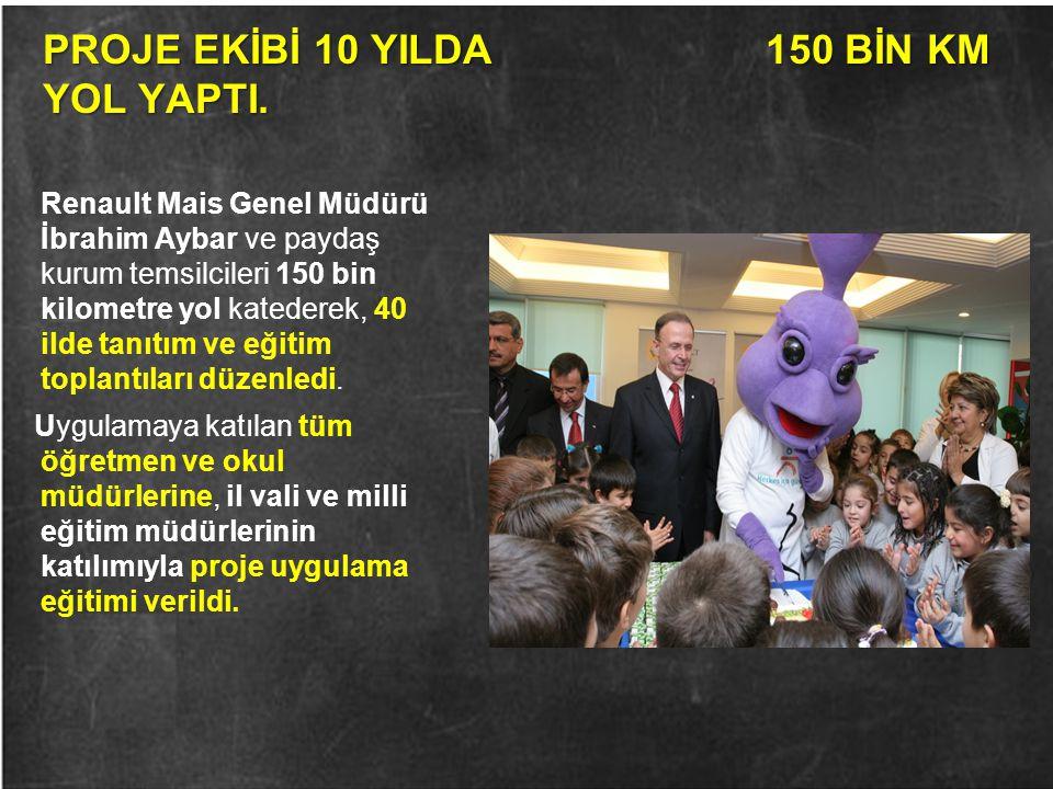 PROJE EKİBİ 10 YILDA 150 BİN KM YOL YAPTI.