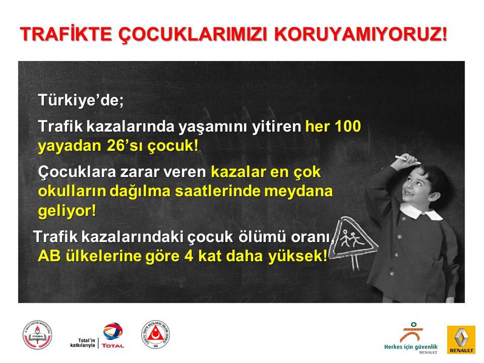 TRAFİKTE ÇOCUKLARIMIZI KORUYAMIYORUZ!