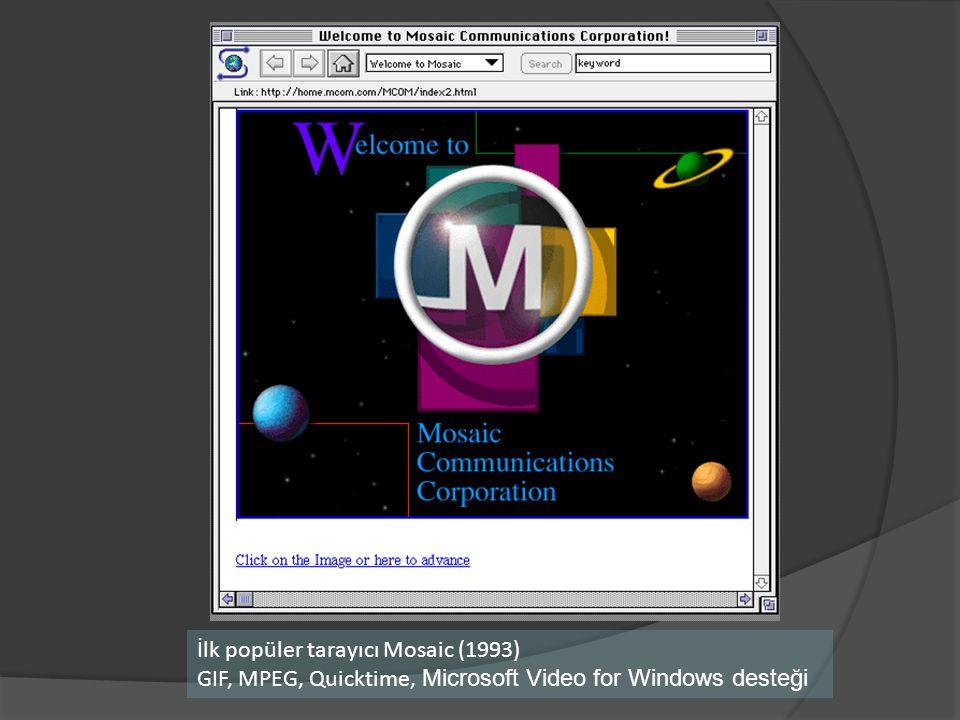 İlk popüler tarayıcı Mosaic (1993)
