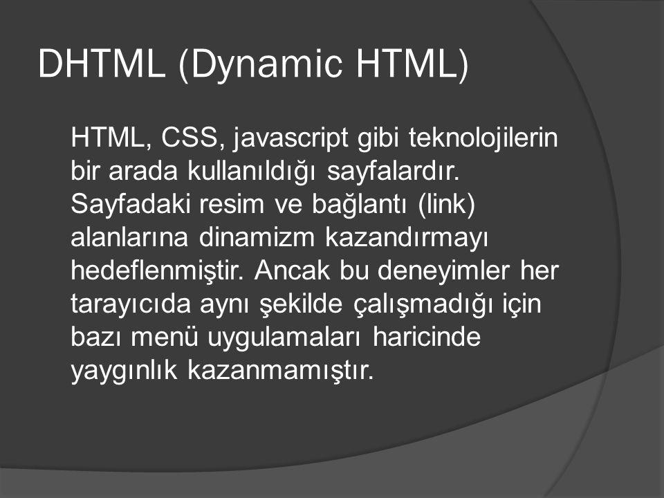 DHTML (Dynamic HTML)