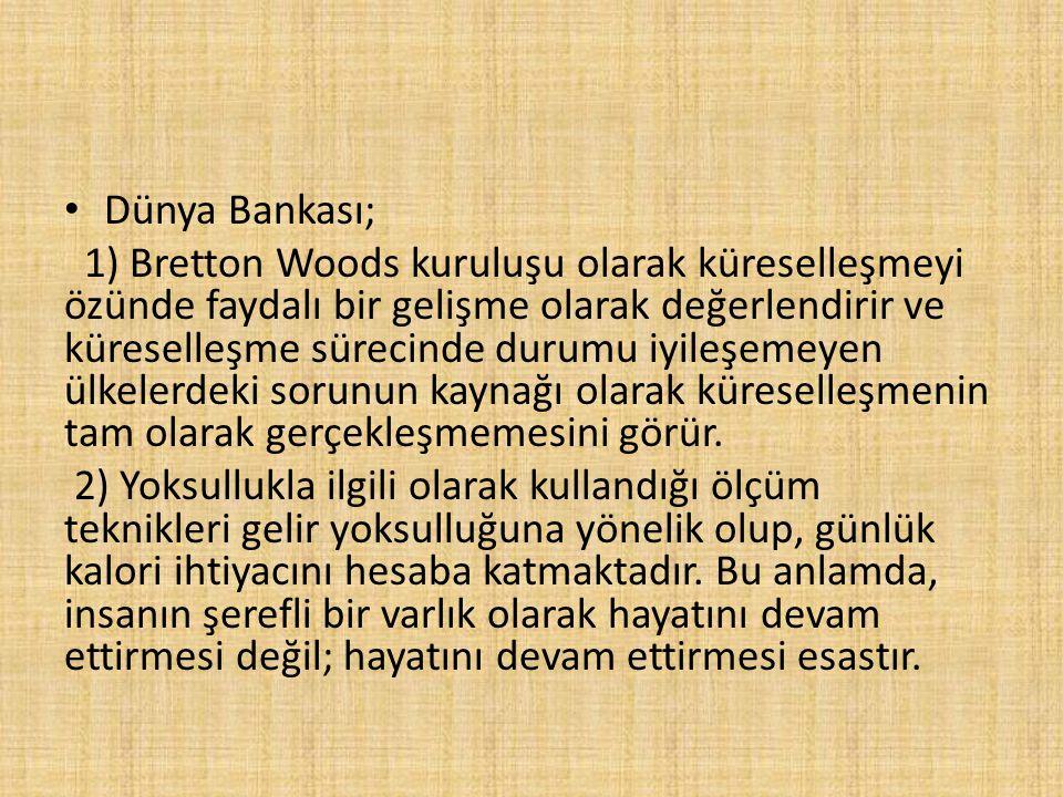 Dünya Bankası;