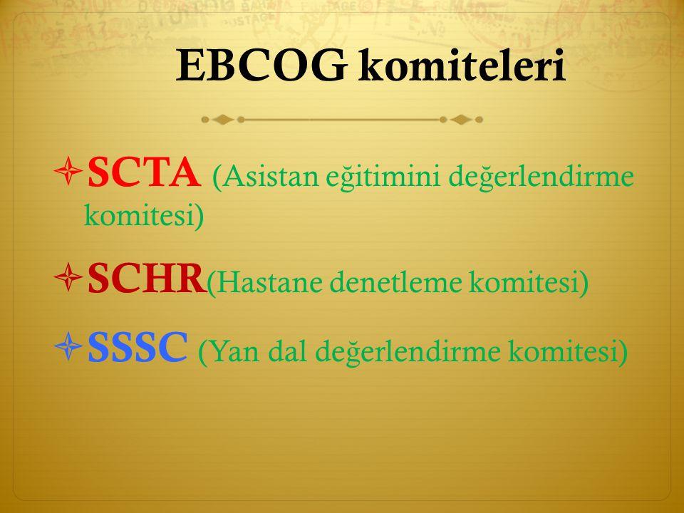 EBCOG komiteleri SCTA (Asistan eğitimini değerlendirme komitesi)