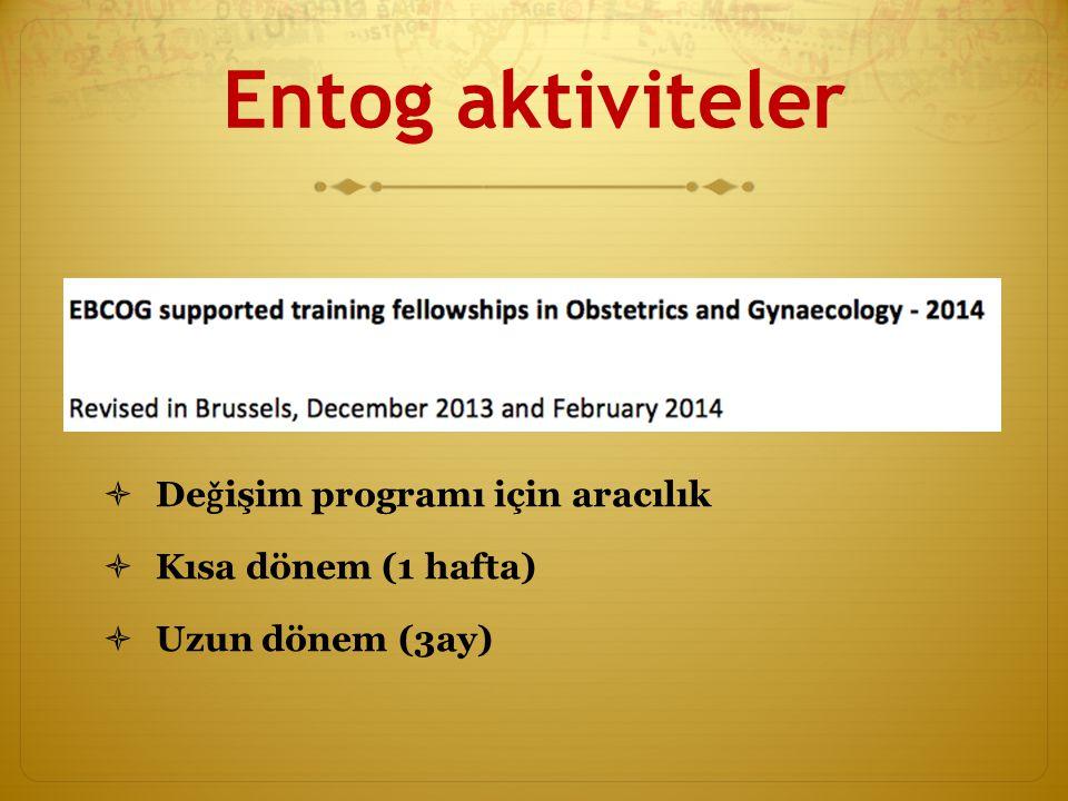 Entog aktiviteler Deǧişim programı için aracılık Kısa dönem (1 hafta)