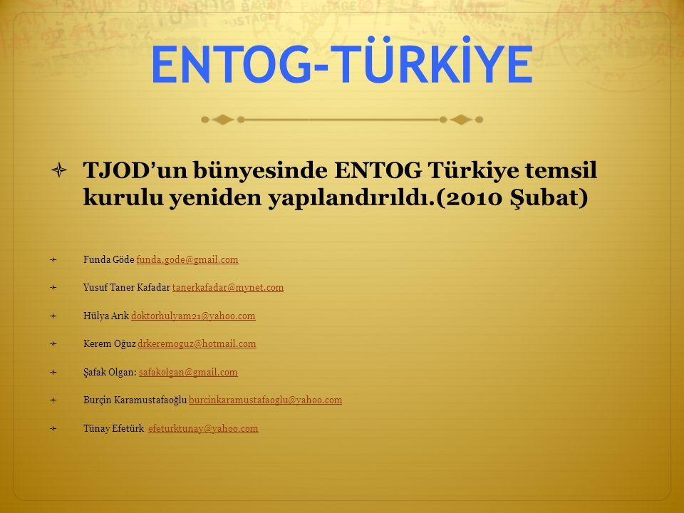 ENTOG-TÜRKİYE TJOD'un bünyesinde ENTOG Türkiye temsil kurulu yeniden yapılandırıldı.(2010 Şubat) Funda Göde funda.gode@gmail.com.