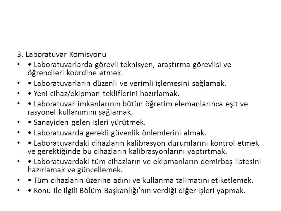 3. Laboratuvar Komisyonu
