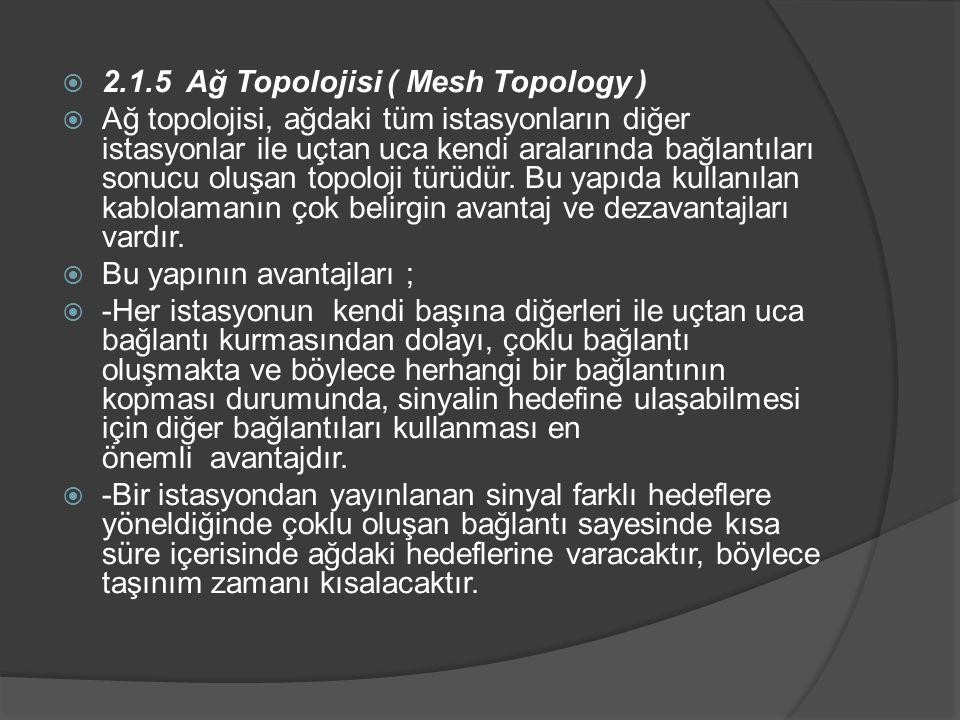 2.1.5 Ağ Topolojisi ( Mesh Topology )