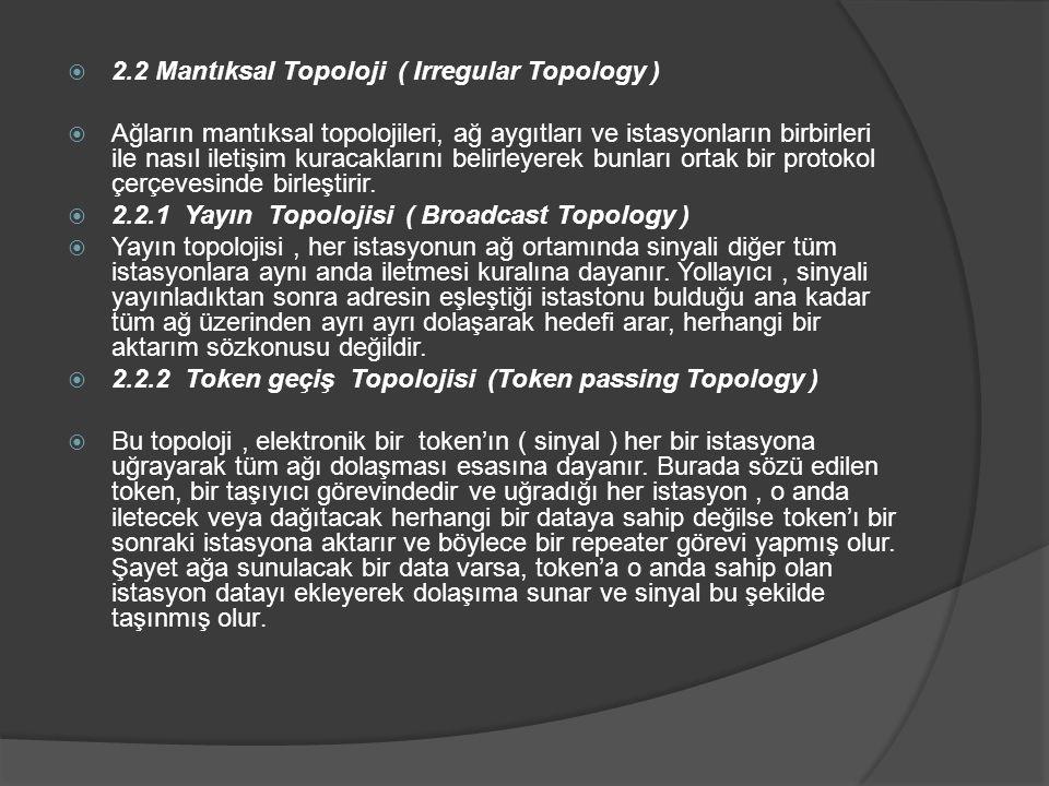 2.2 Mantıksal Topoloji ( Irregular Topology )