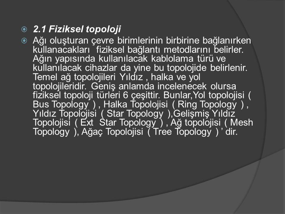 2.1 Fiziksel topoloji