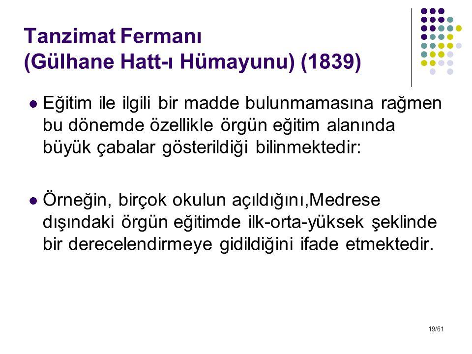 Tanzimat Fermanı (Gülhane Hatt-ı Hümayunu) (1839)
