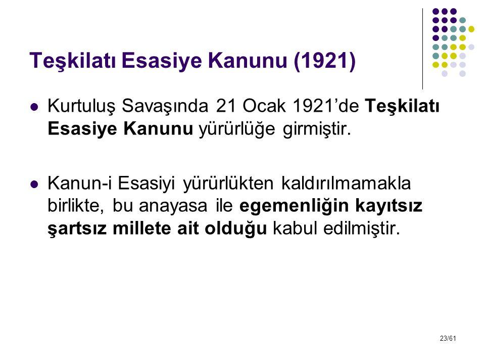 Teşkilatı Esasiye Kanunu (1921)