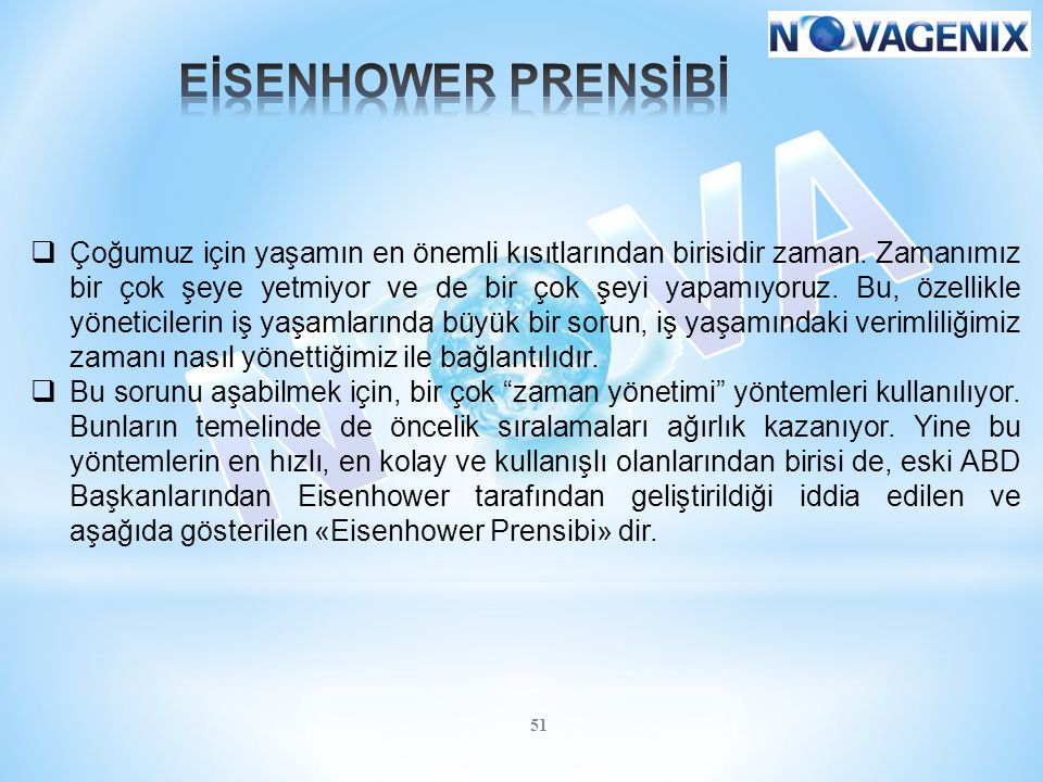 EİSENHOWER PRENSİBİ