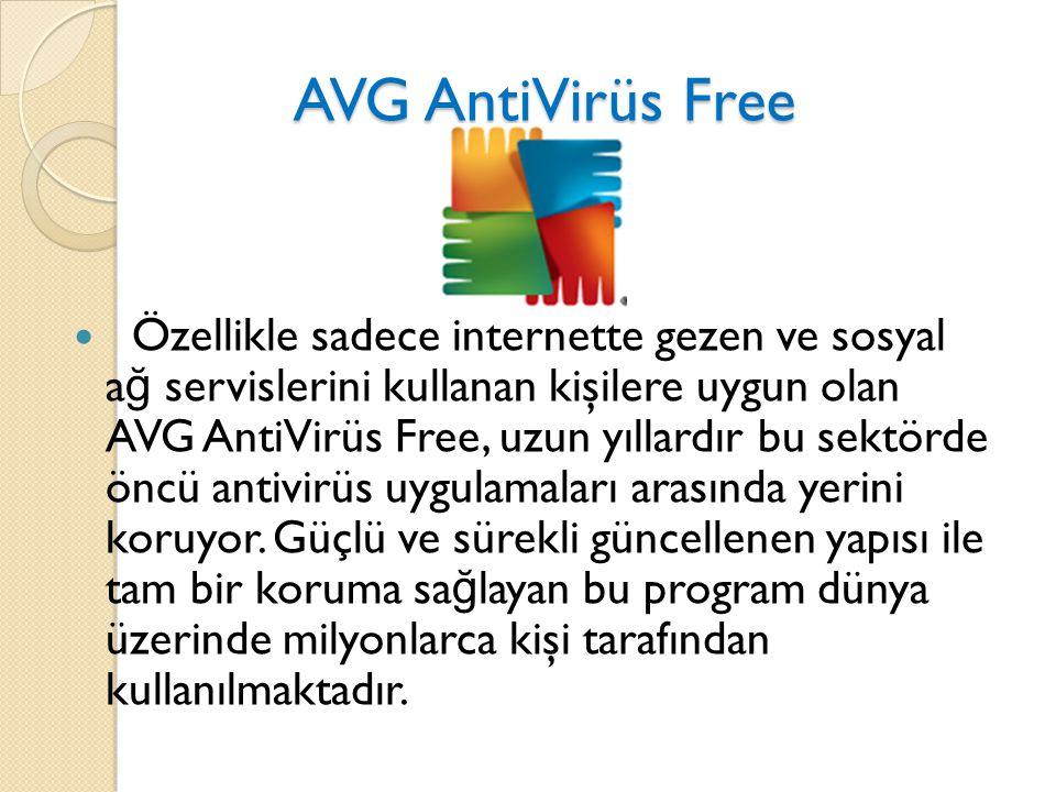 AVG AntiVirüs Free