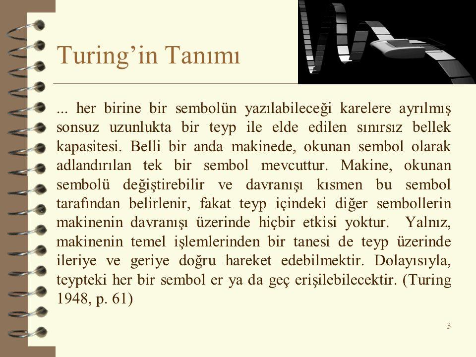 Turing'in Tanımı