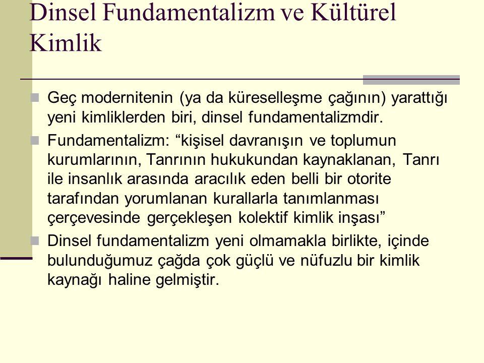 Dinsel Fundamentalizm ve Kültürel Kimlik