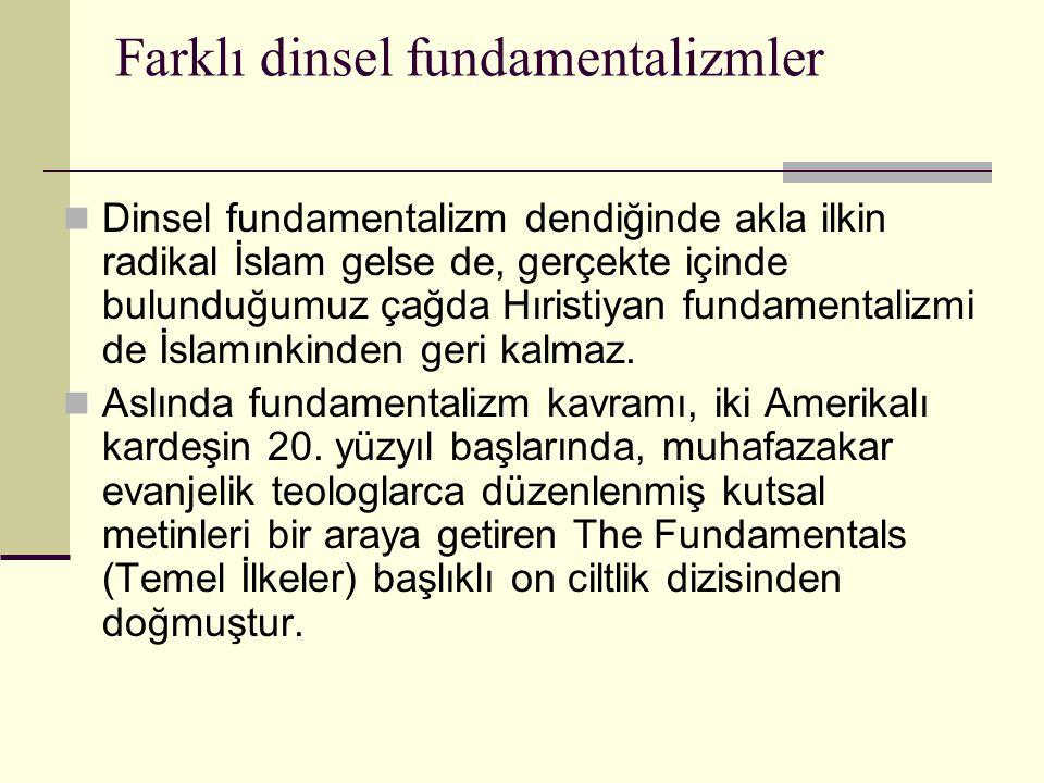 Farklı dinsel fundamentalizmler