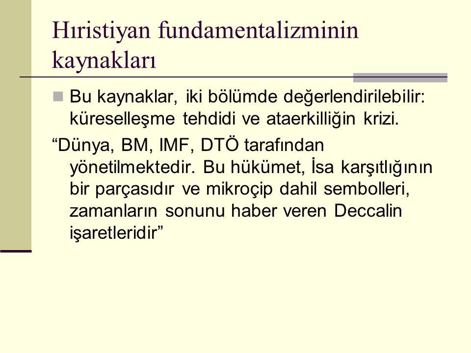 Hıristiyan fundamentalizminin kaynakları