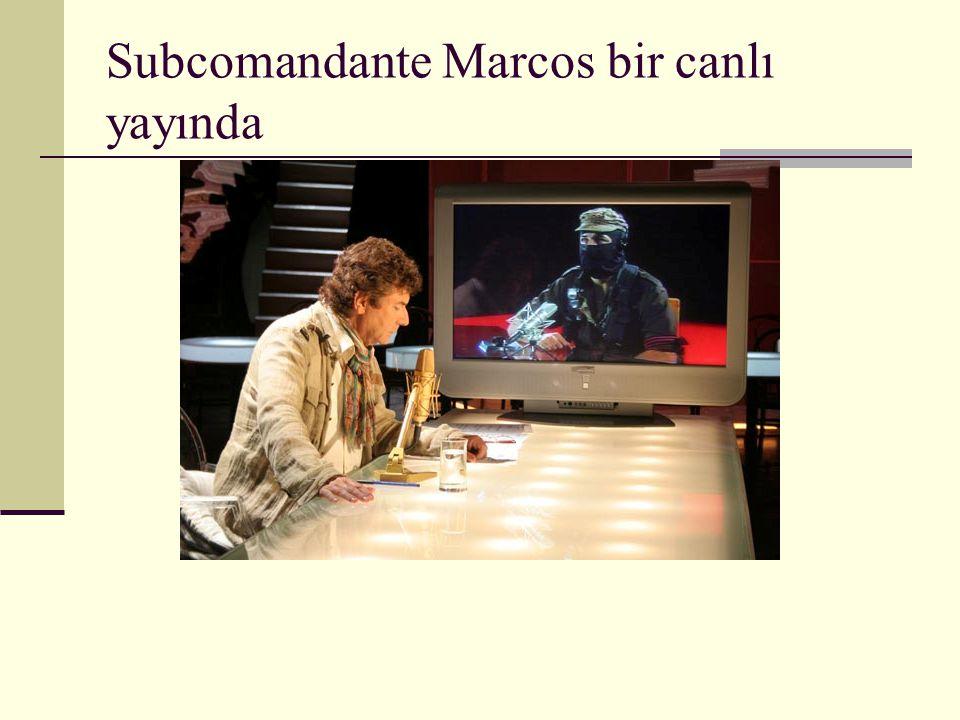 Subcomandante Marcos bir canlı yayında