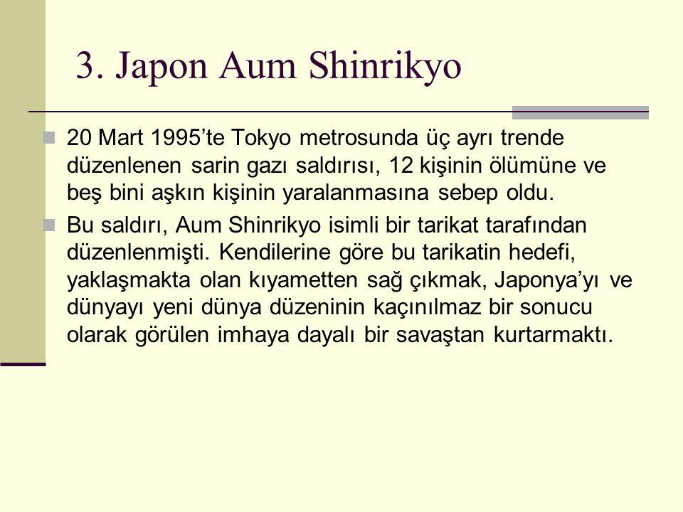 3. Japon Aum Shinrikyo