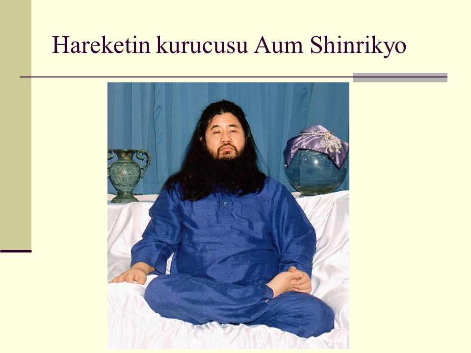 Hareketin kurucusu Aum Shinrikyo