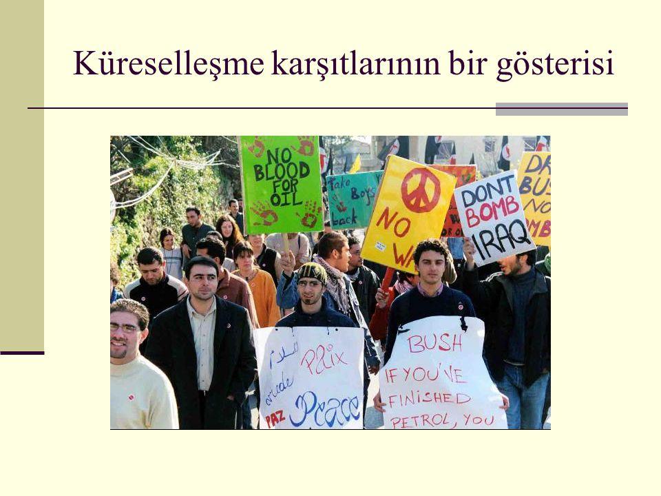 Küreselleşme karşıtlarının bir gösterisi