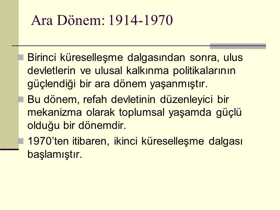 Ara Dönem: 1914-1970