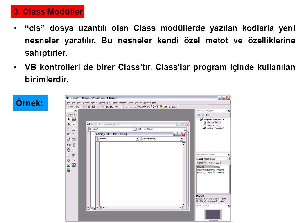 3. Class Modüller