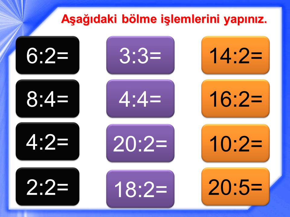 6:2= 3:3= 14:2= 8:4= 4:4= 16:2= 4:2= 20:2= 10:2= 2:2= 20:5= 18:2=