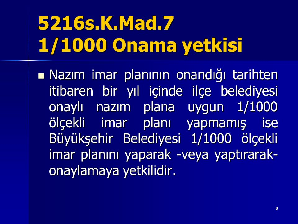 5216s.K.Mad.7 1/1000 Onama yetkisi