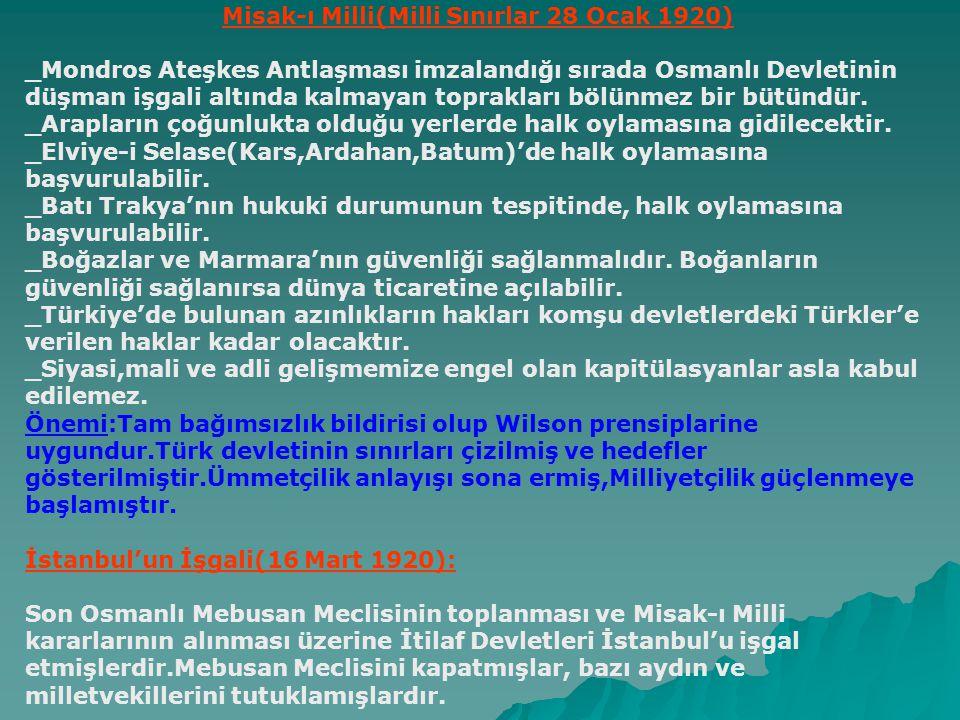 Misak-ı Milli(Milli Sınırlar 28 Ocak 1920)