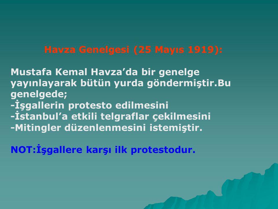 Havza Genelgesi (25 Mayıs 1919):