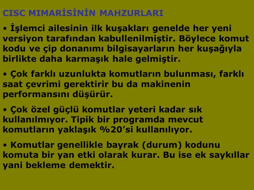 CISC MIMARİSİNİN MAHZURLARI
