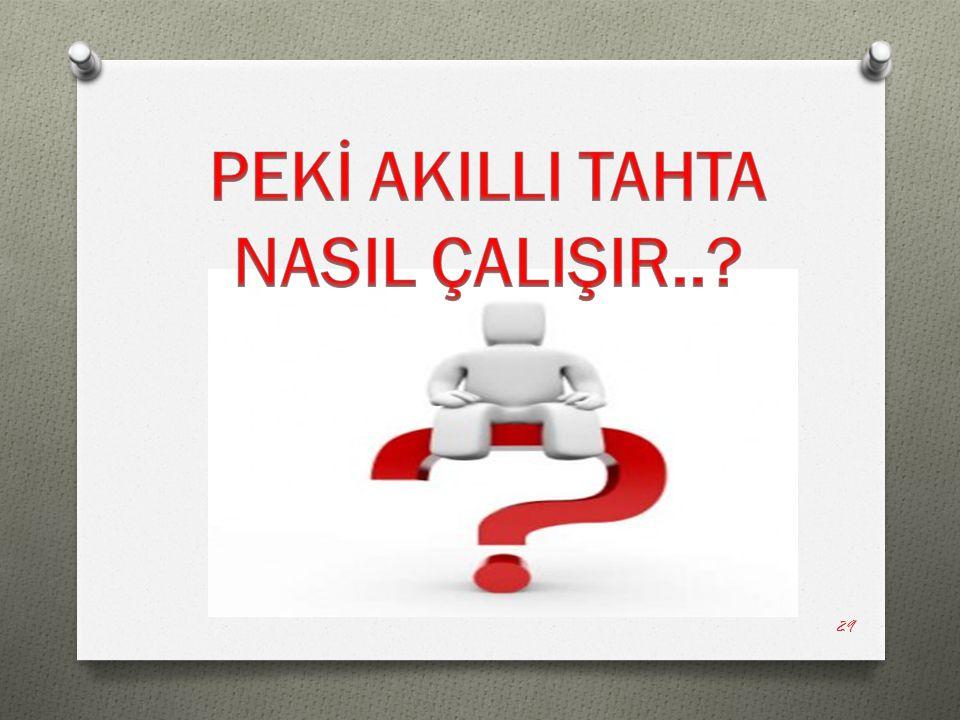 PEKİ AKILLI TAHTA NASIL ÇALIŞIR..