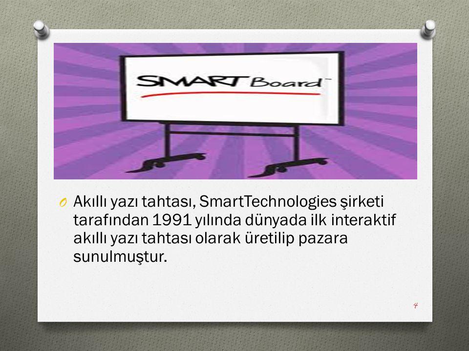 Akıllı yazı tahtası, SmartTechnologies şirketi tarafından 1991 yılında dünyada ilk interaktif akıllı yazı tahtası olarak üretilip pazara sunulmuştur.