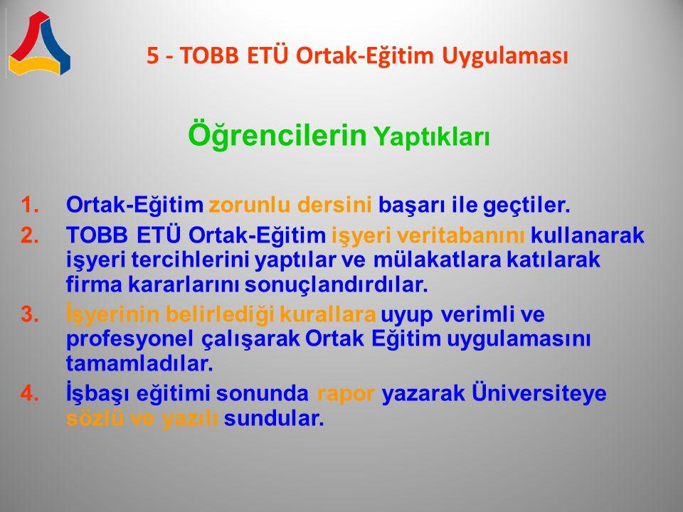 5 - TOBB ETÜ Ortak-Eğitim Uygulaması