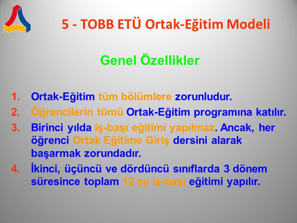 5 - TOBB ETÜ Ortak-Eğitim Modeli