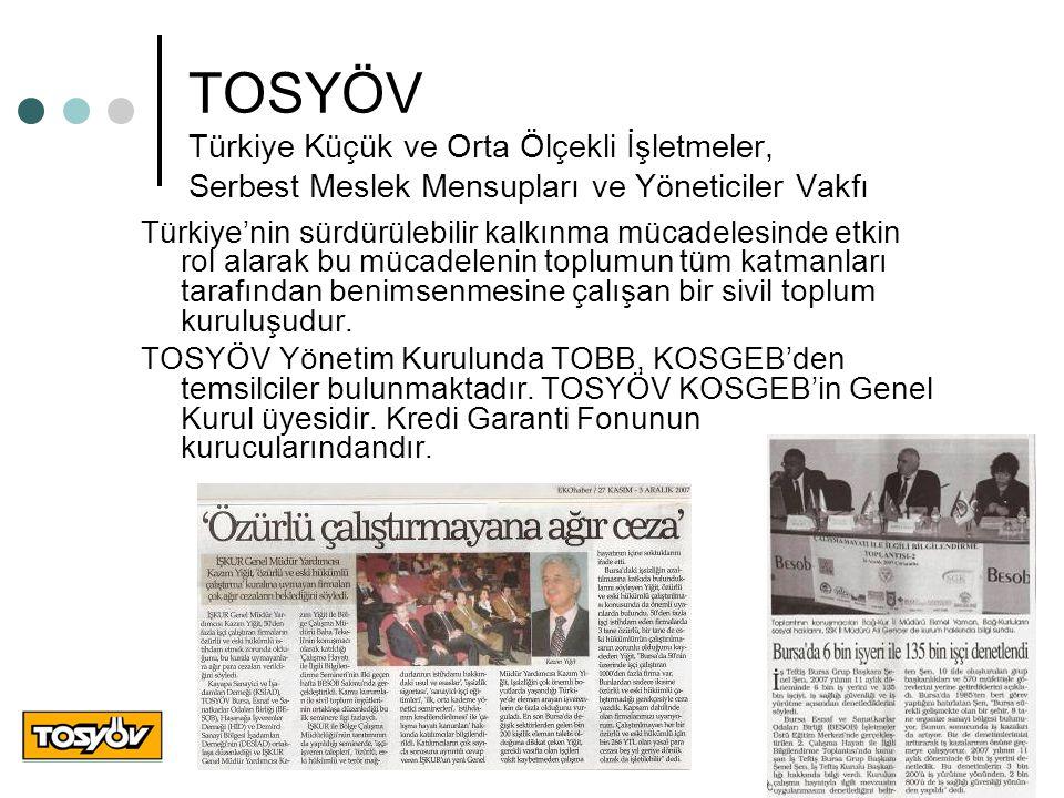 TOSYÖV Türkiye Küçük ve Orta Ölçekli İşletmeler, Serbest Meslek Mensupları ve Yöneticiler Vakfı