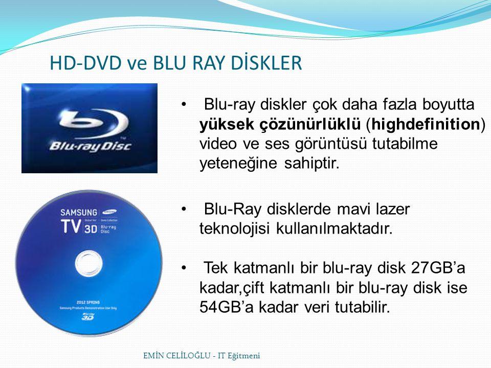 HD-DVD ve BLU RAY DİSKLER