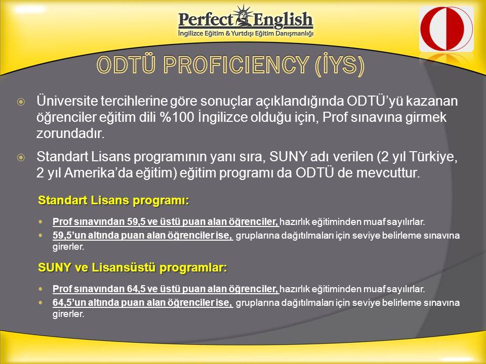 ODTÜ PROFICIENCY (İYS)