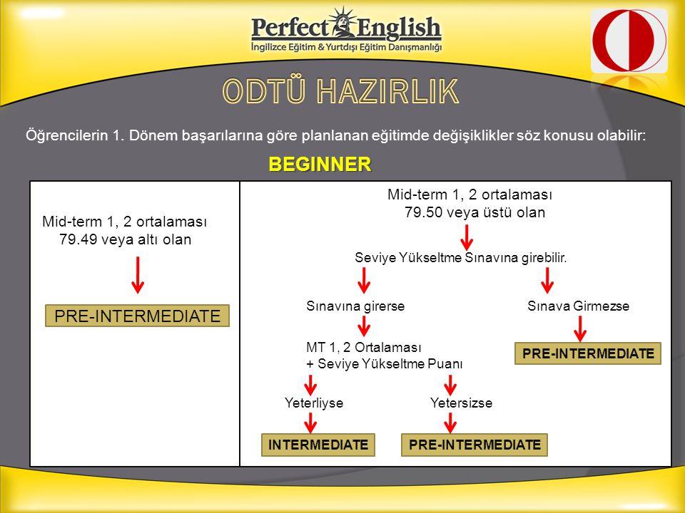 ODTÜ HAZIRLIK BEGINNER PRE-INTERMEDIATE