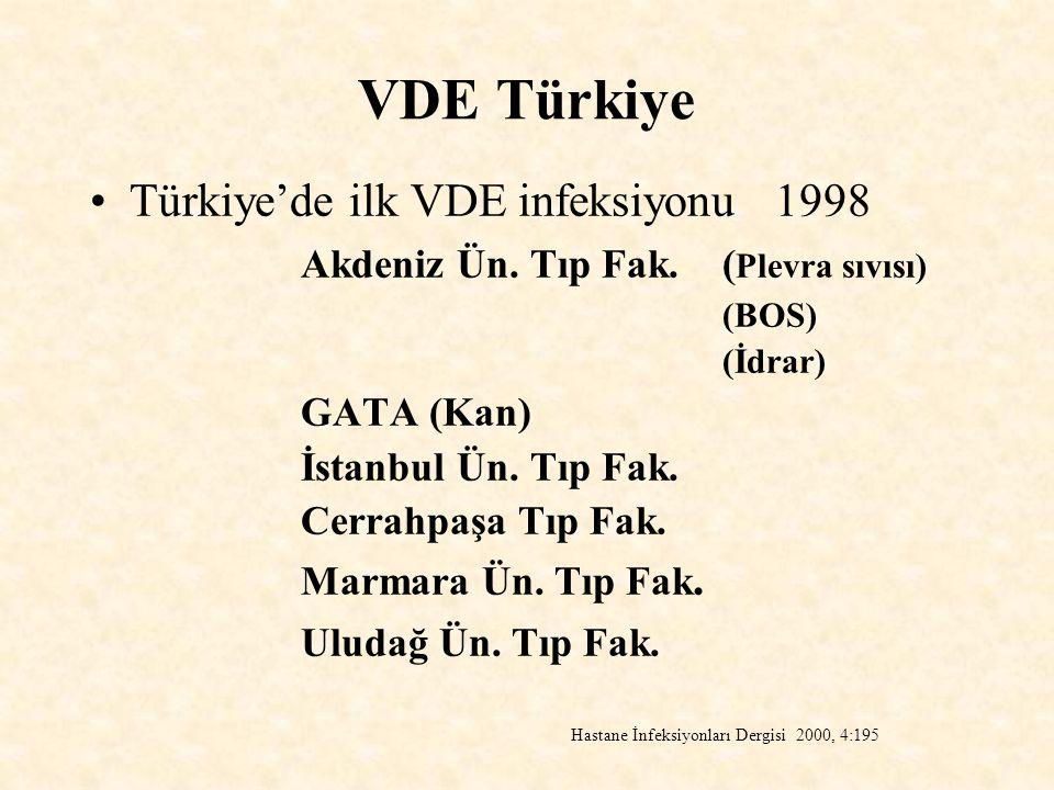 VDE Türkiye Türkiye'de ilk VDE infeksiyonu 1998