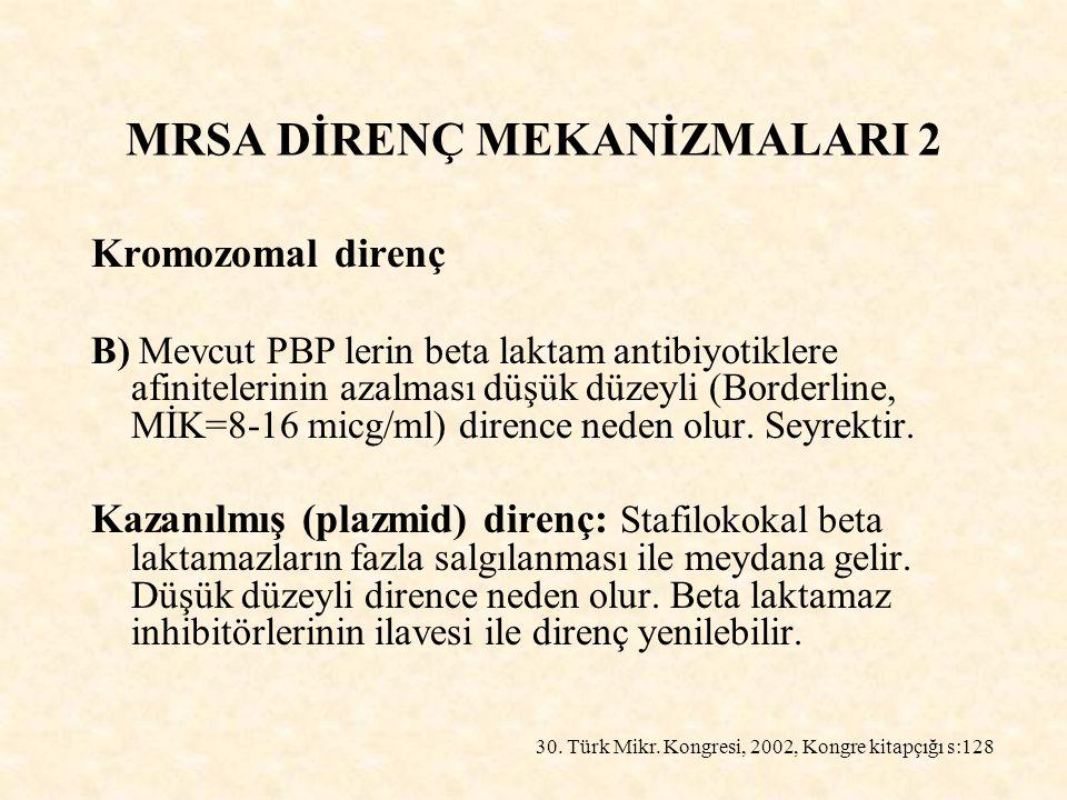 MRSA DİRENÇ MEKANİZMALARI 2