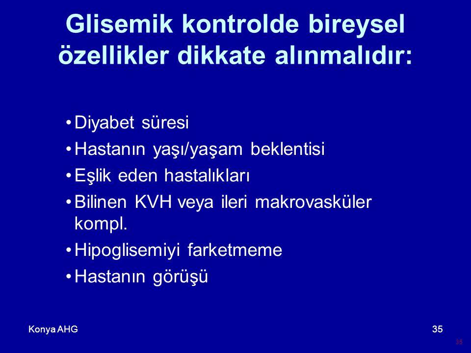 Glisemik kontrolde bireysel özellikler dikkate alınmalıdır: