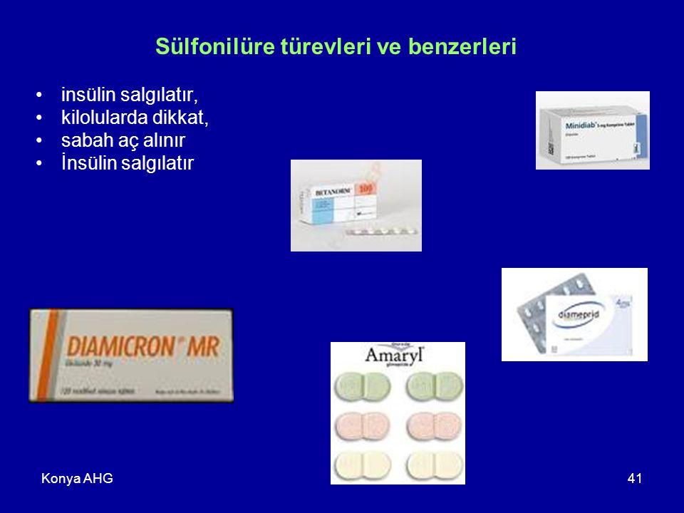 Sülfonilüre türevleri ve benzerleri