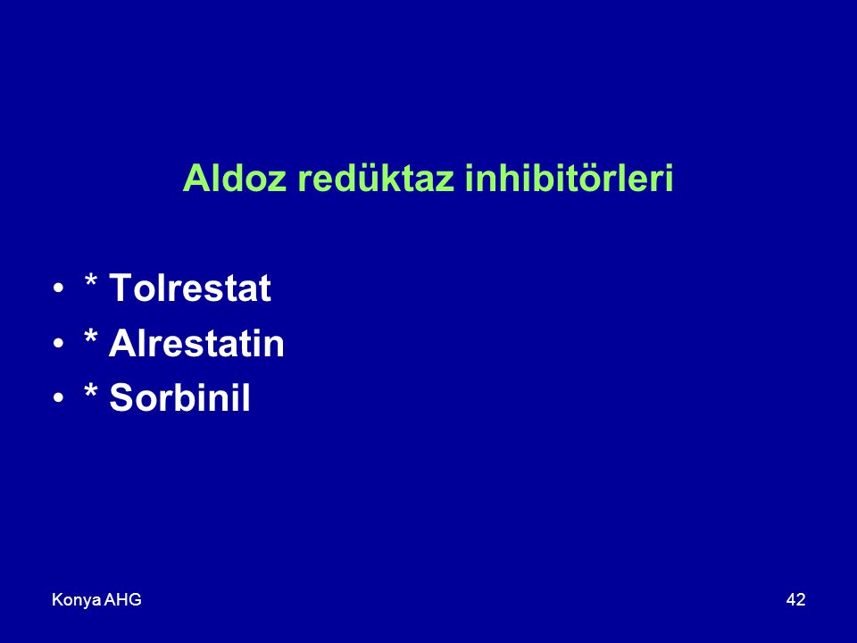 Aldoz redüktaz inhibitörleri