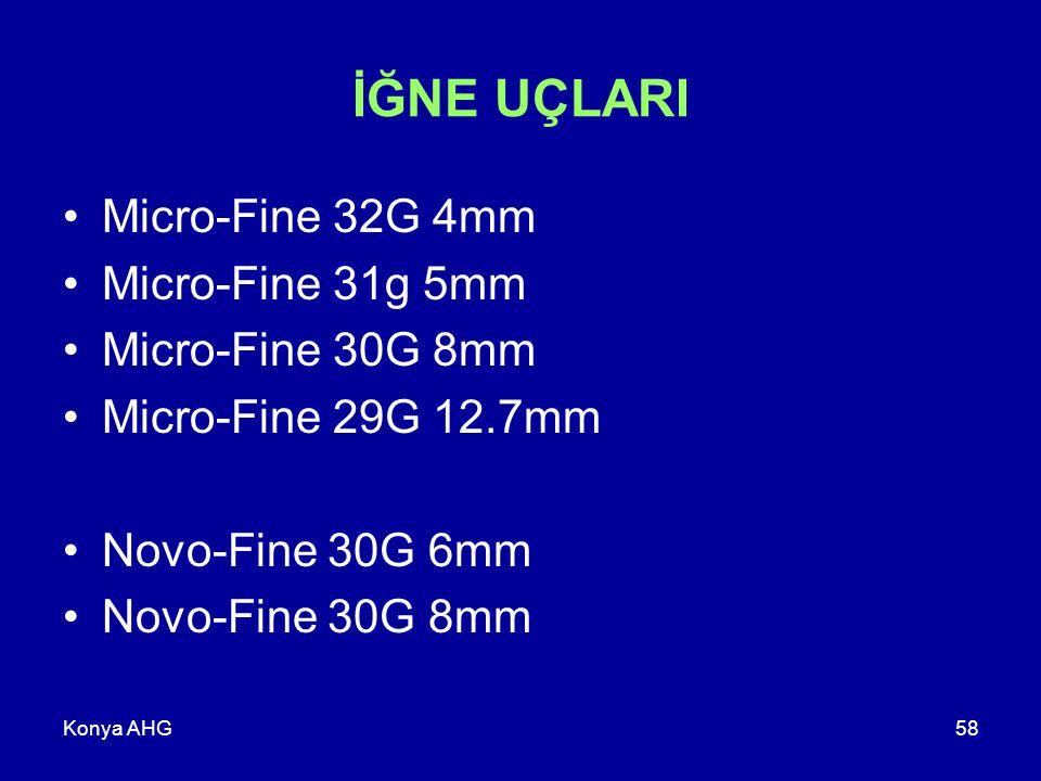 İĞNE UÇLARI Micro-Fine 32G 4mm Micro-Fine 31g 5mm Micro-Fine 30G 8mm