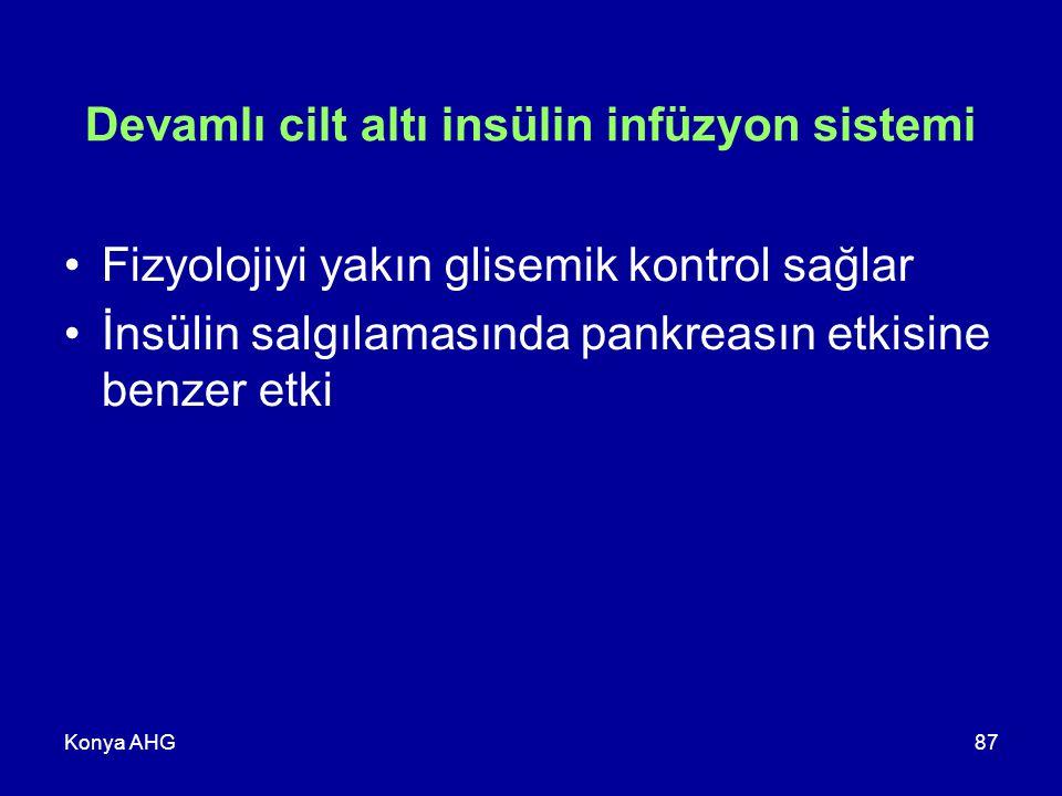 Devamlı cilt altı insülin infüzyon sistemi